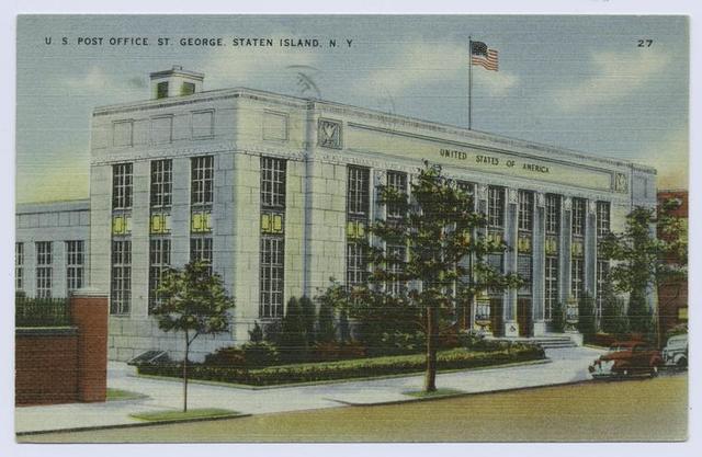 U. S. Post Office, St. George, Staten Island, N.Y.