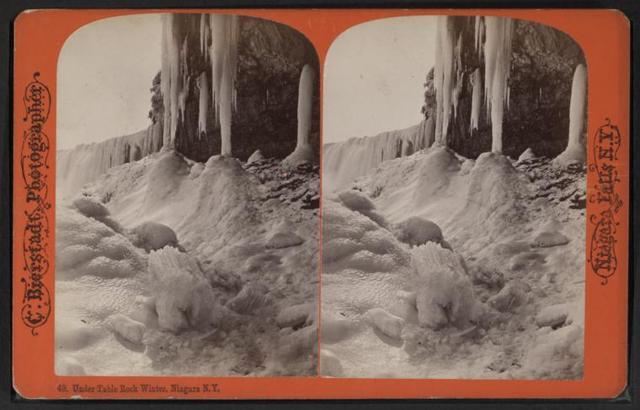 Under Table Rock, Winter, Niagara, N.Y.