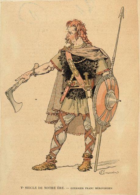 V Siecle de Notre Ère, guerrier Franc Mèrovingien.
