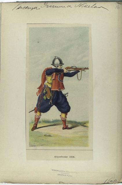Vereenigde Provincien der Nederlanden. Arquebusier. 1608