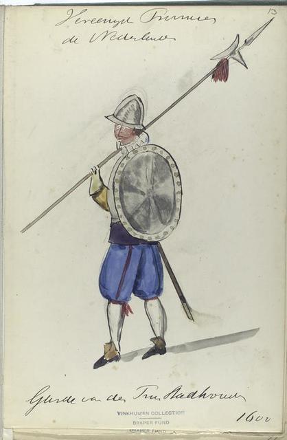 Vereenigde Provincien der Nederlanden. Garde van der ... 1600
