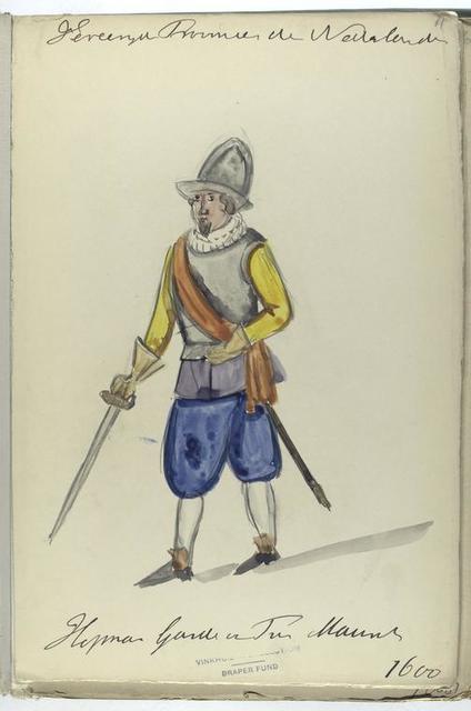 Vereenigde Provincien der Nederlanden. Hopman Garde van ... 1600