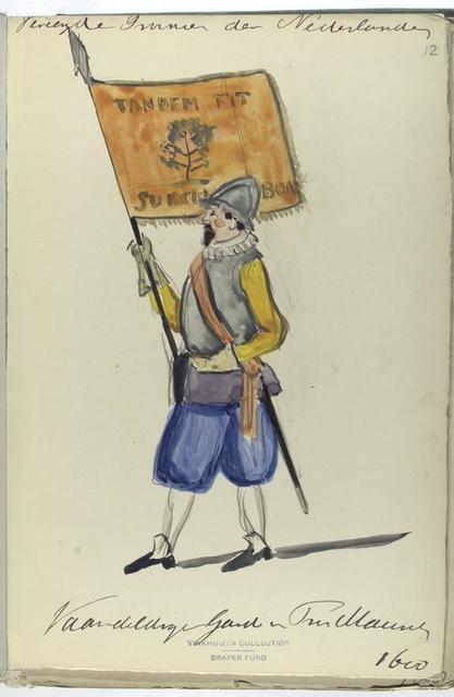 Vereenigde Provincien der Nederlanden. Vaandeldrager  Garde van ...    1600