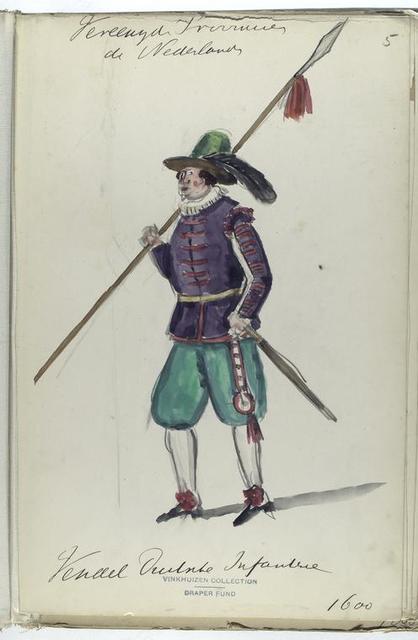 Vereenigde Provincien der Nederlanden. Vendel  Infanterie. 1600
