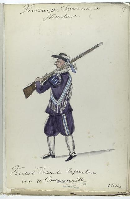 Vereenigde Provincien der Nederlanden. Vendel ...   Infanterie [der?] d'Ommesville. 1600