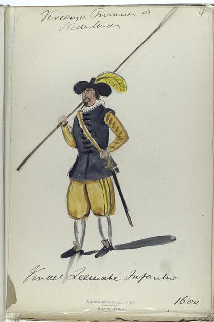 Vereenigde Provincien der Nederlanden. Vendel ...nische Infanterie. 1600