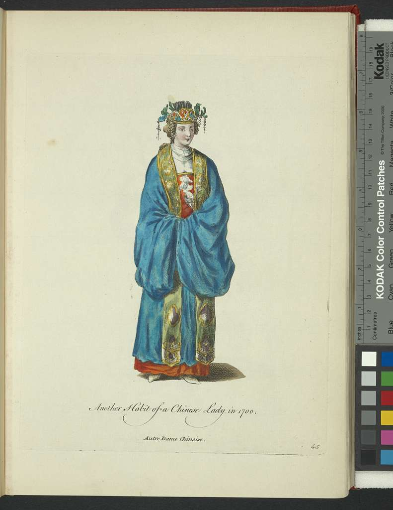 Another habit of a Chinese lady in 1700. Autre dame Chinoise.
