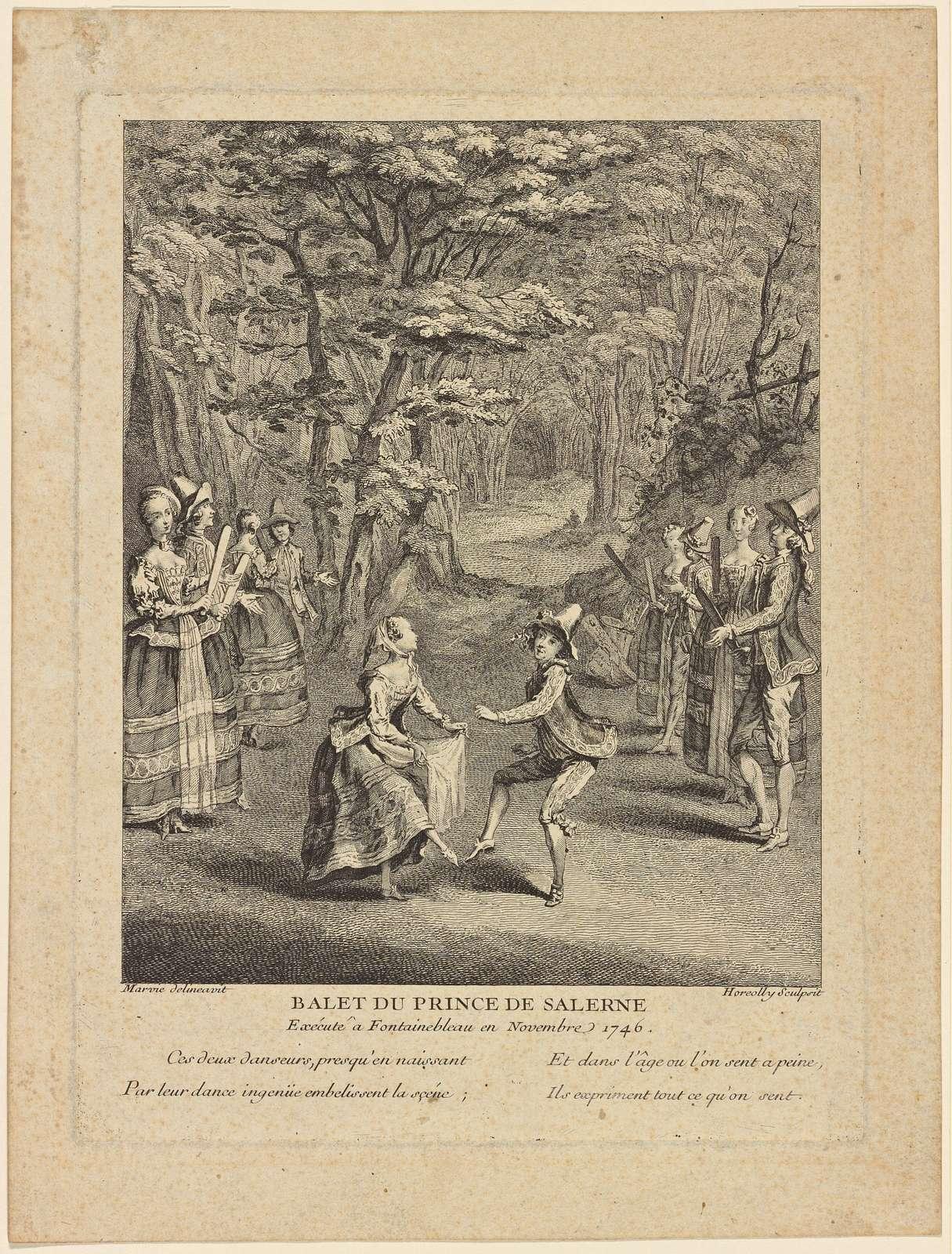 Balet du Prince de Salerne, exécuté à Fontainebleau en novembre 1746