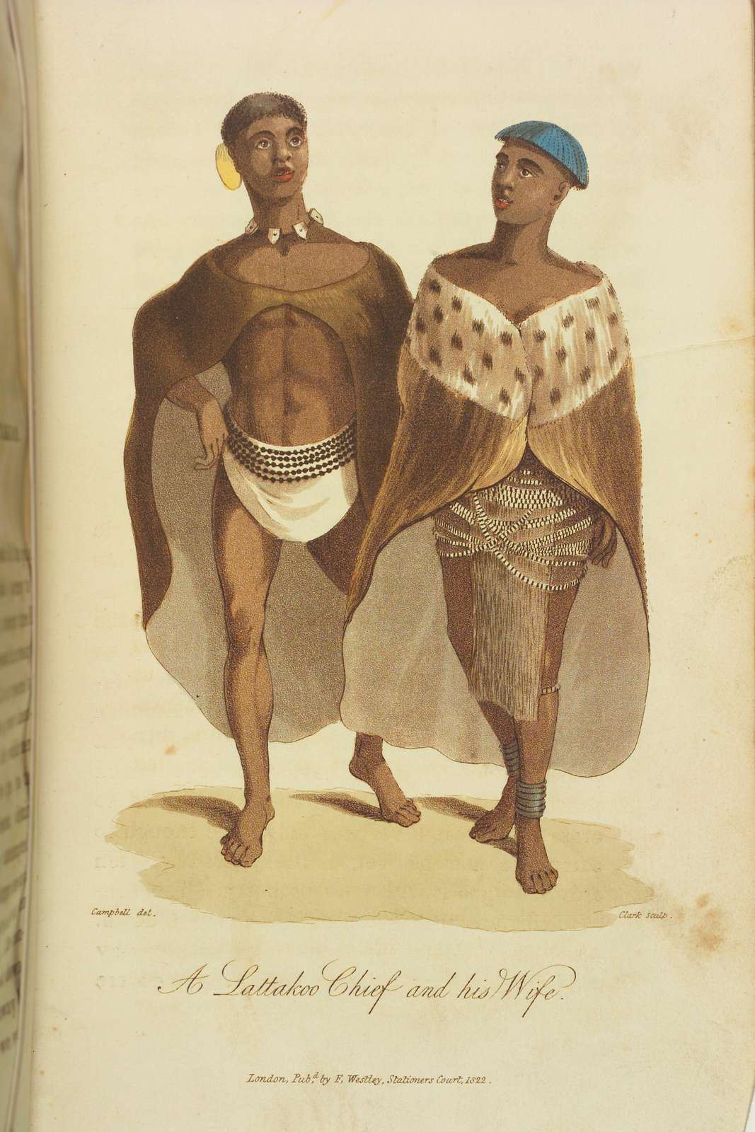 A Lattakoo Chief and his Wife