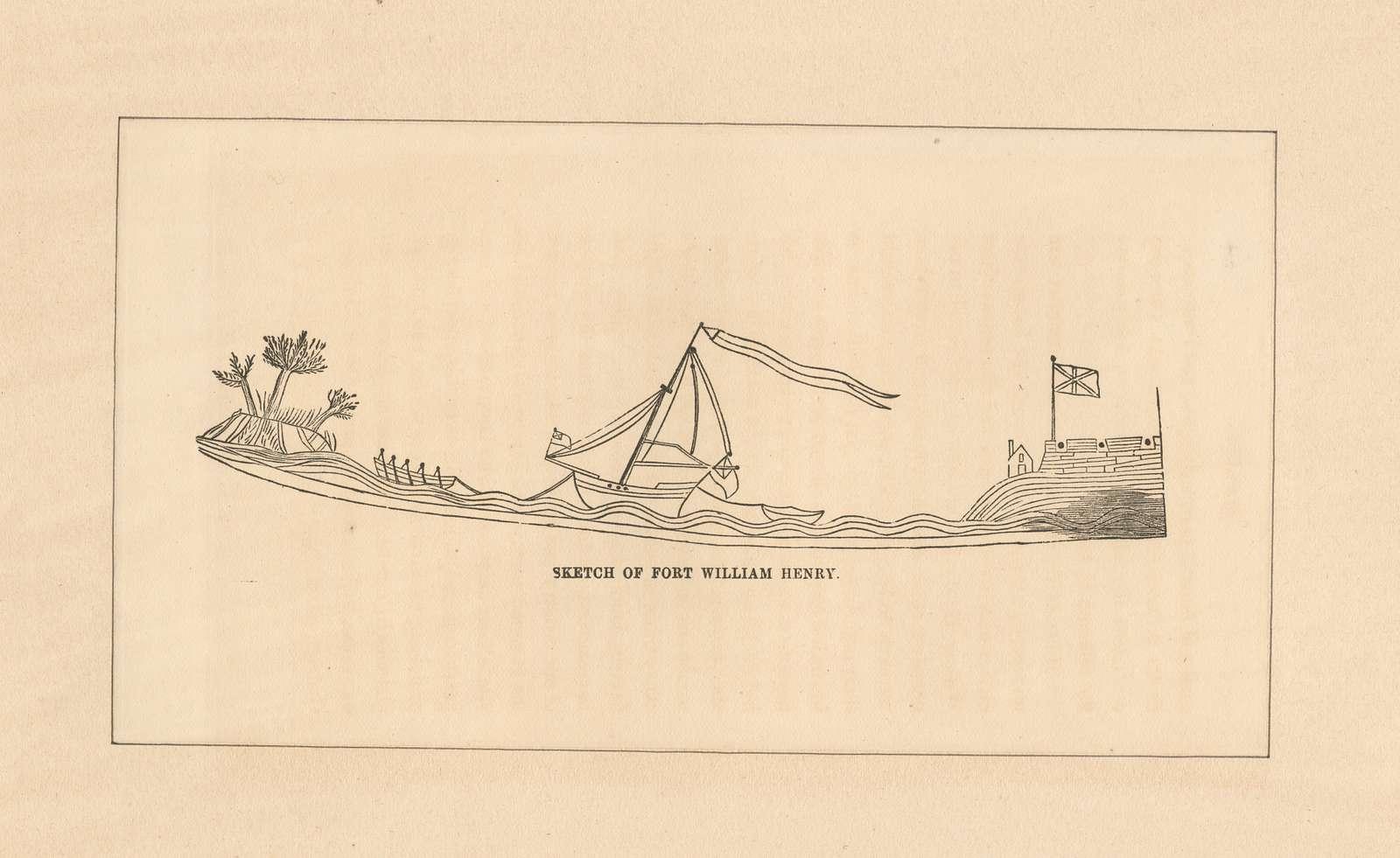 Sketch of Fort William Henry.