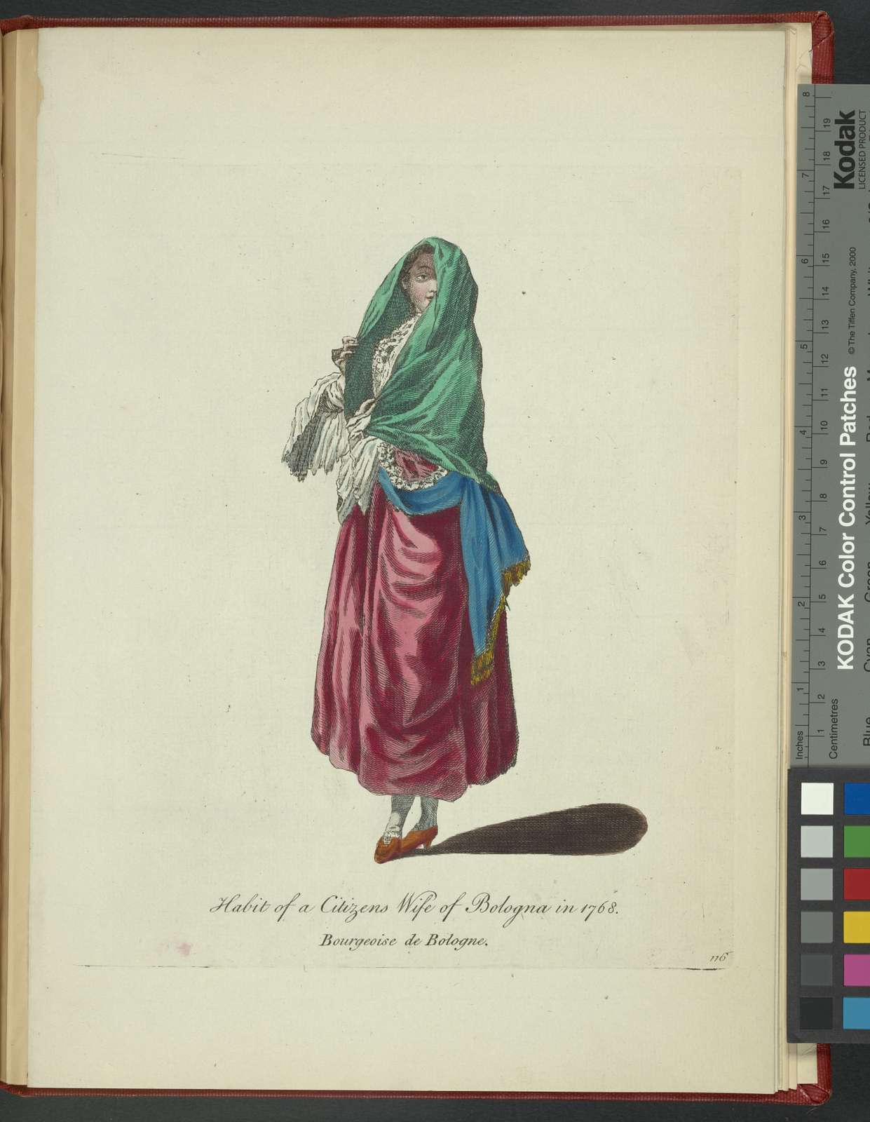 Habit of a citizen's wife of Bologna in 1768. Bourgeoise de Bologne.