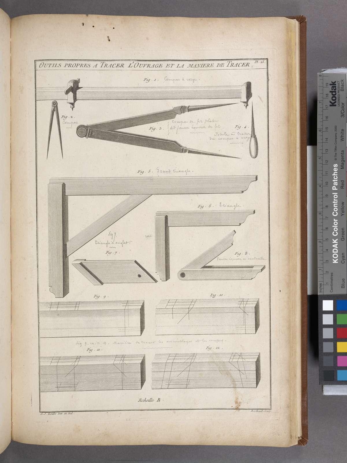 Outils propres a tracer l'ouvrage et la maniere de tracer.