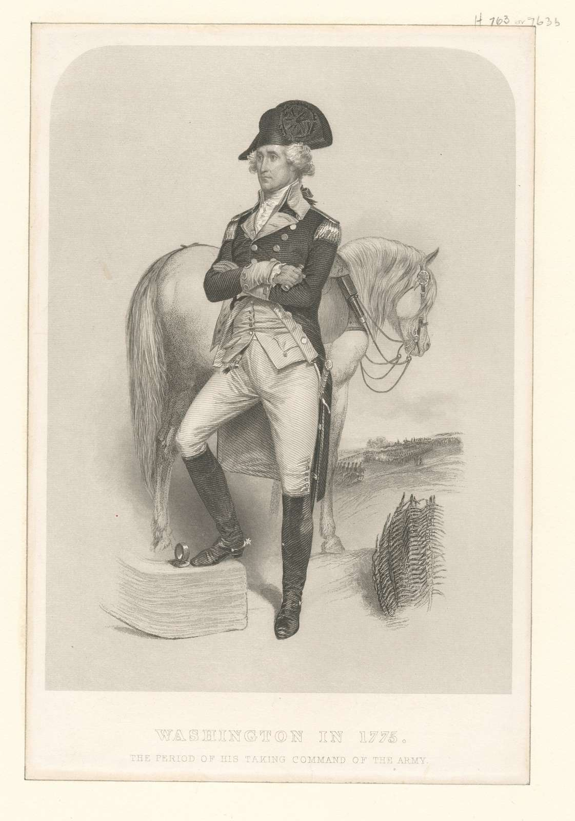 Washington in 1775, the period of his taking command of the army.