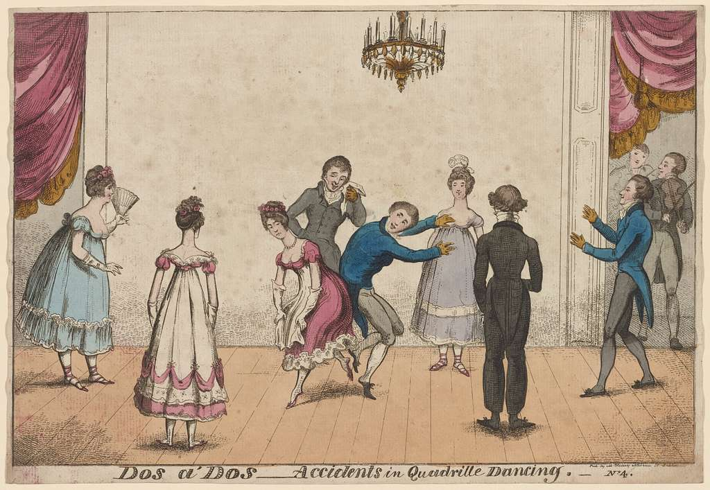 Dos à dos -- accidents in quadrille dancing