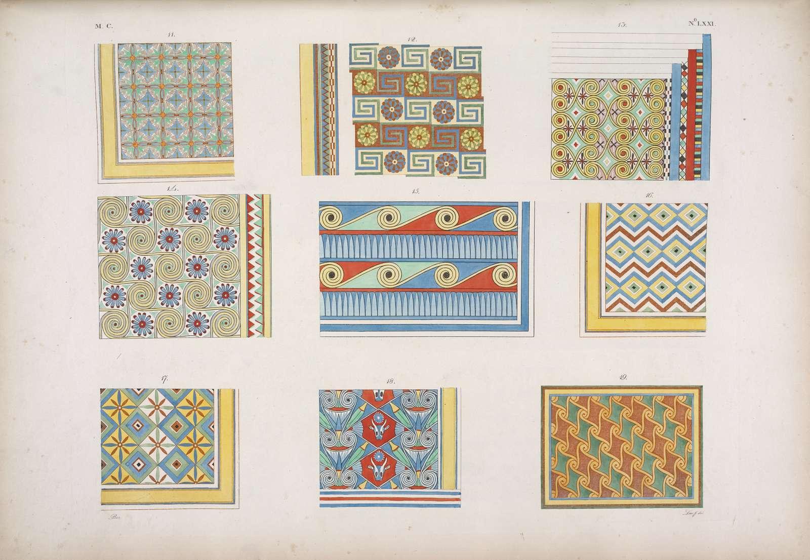 Saggi delle pitture e ornamenti, che decorano le volte, o i soffitti delle tombe e delle case egiziane.