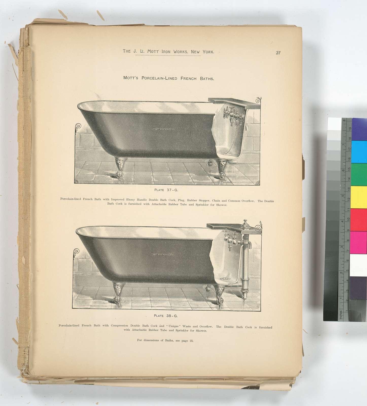 Mott's Porcelain-Lined French Baths.