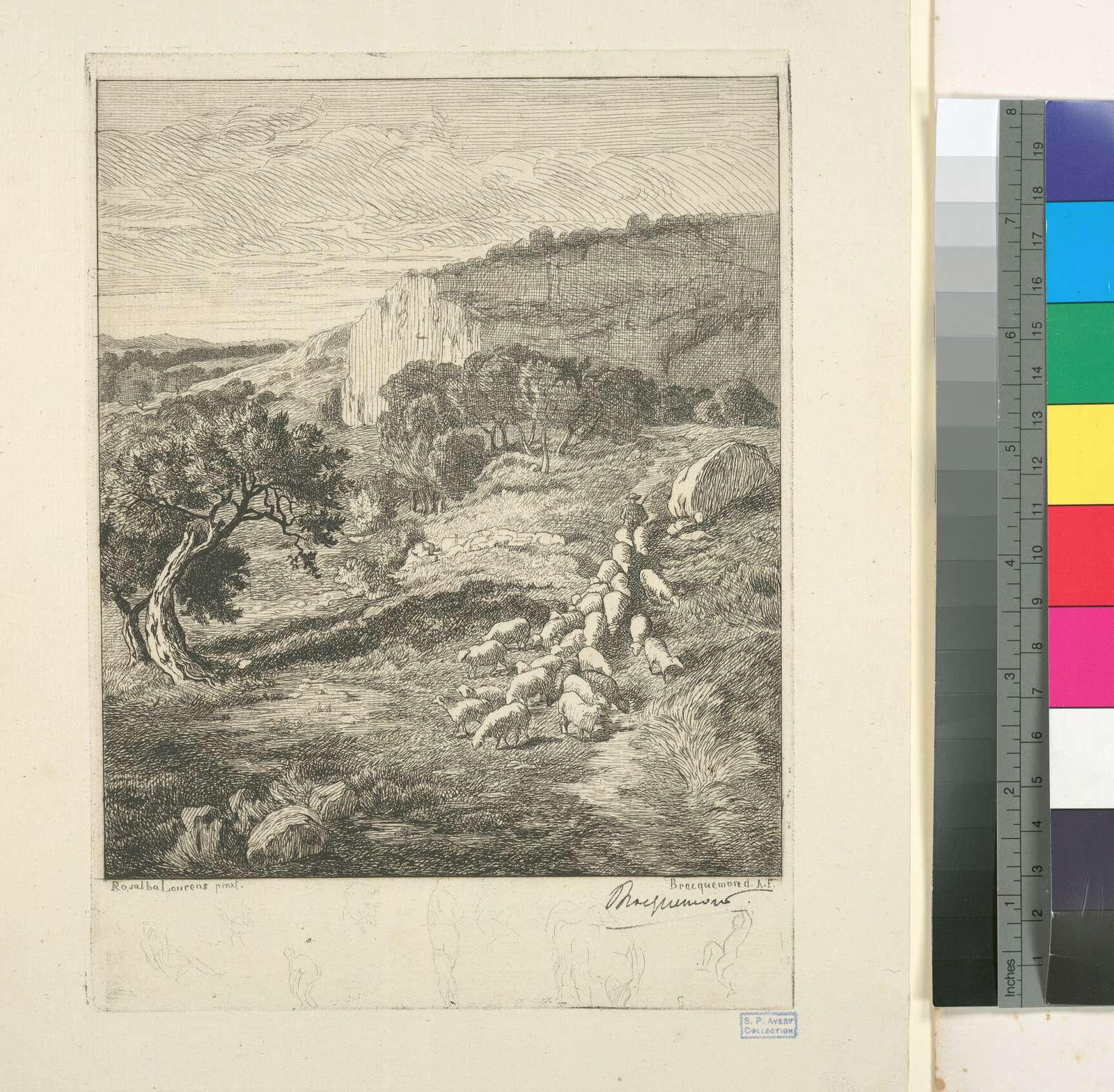 Paysage, d'après Rosalba Laurens.