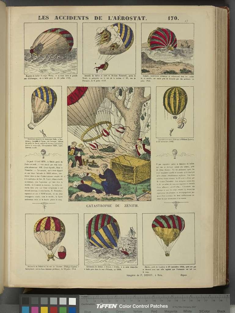 Image populaire relative à la catastrophe du Zénith (15 avril 1875).