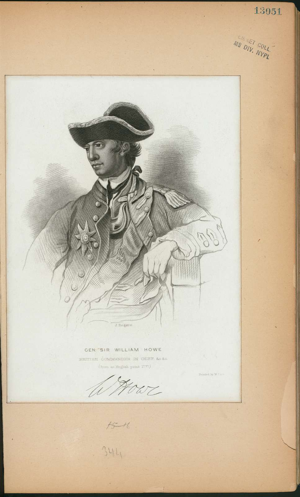 Gen. Sir William Howe, British commander in chief.
