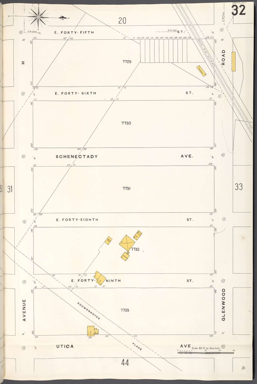 Brooklyn V. 15, Plate No. 32 [Map bounded by E.45th St., Glenwood Rd., Utica Ave., Avenue H]