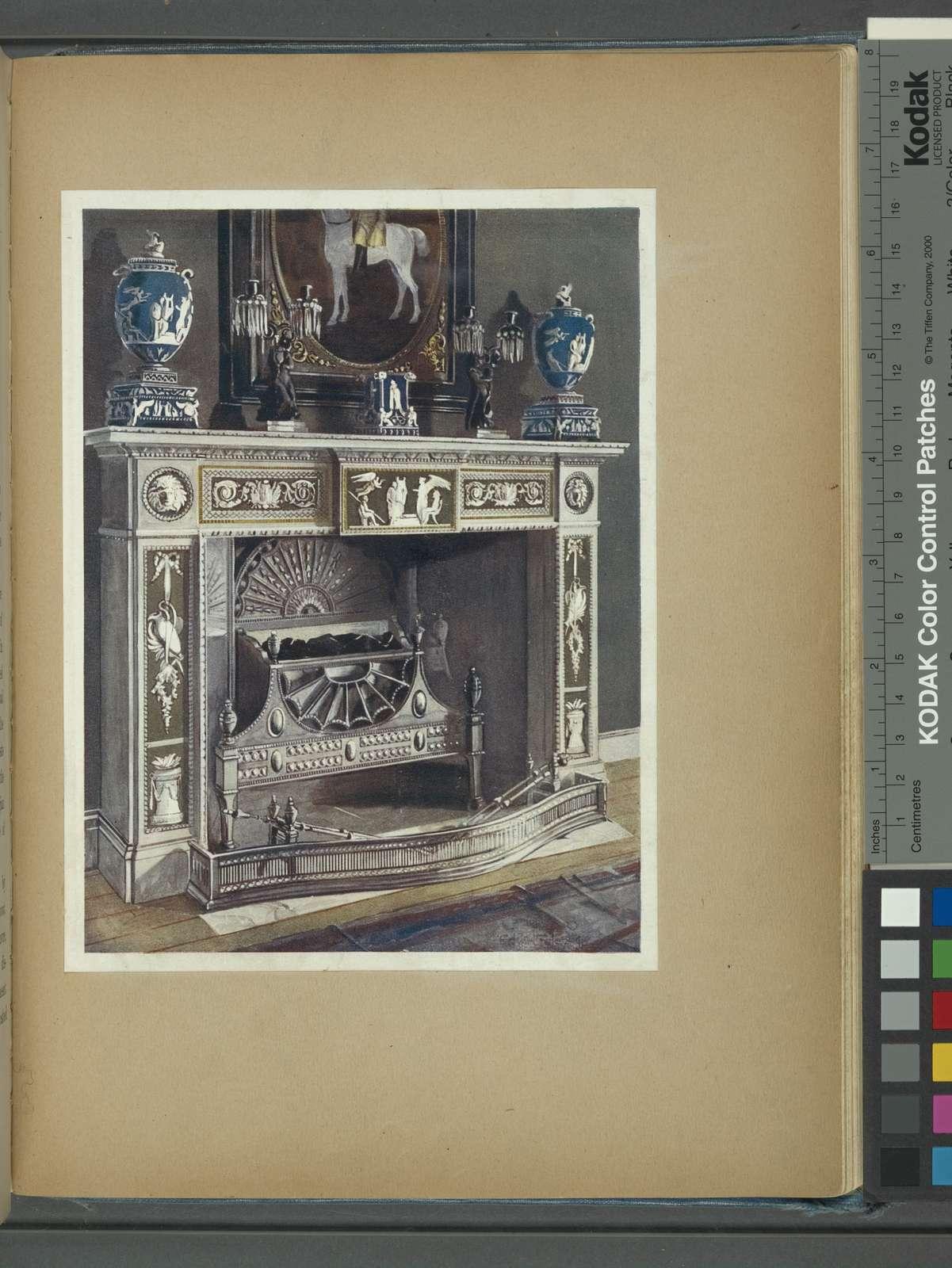 Wedgwood-Flaxman chimneypiece. Property of W. H. Lever, Esq., M. P., ca. 1790.