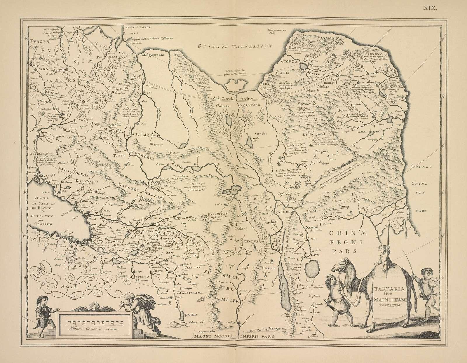 Karta Sibiri (Tartarii), izdannaia Gondiusom. Str.22