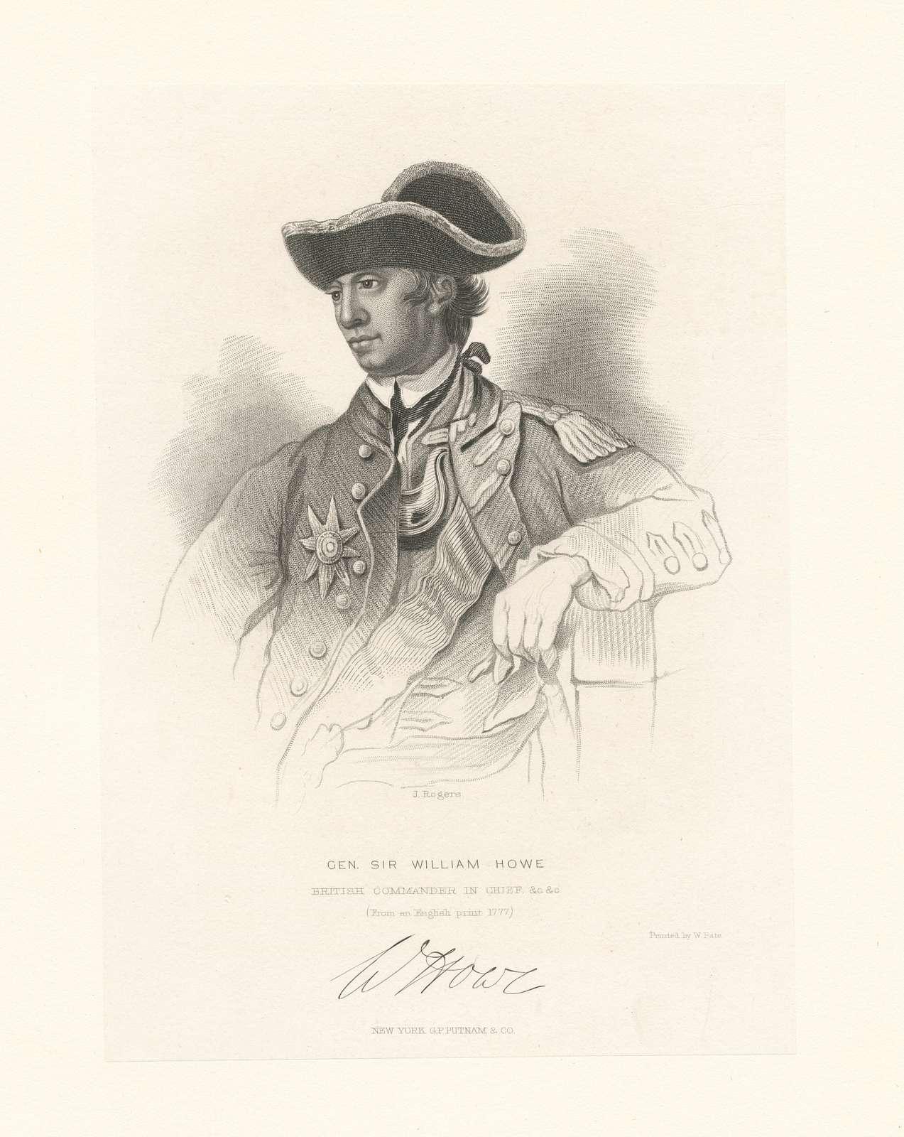 Gen. Sir William Howe, British Commander in Chief.