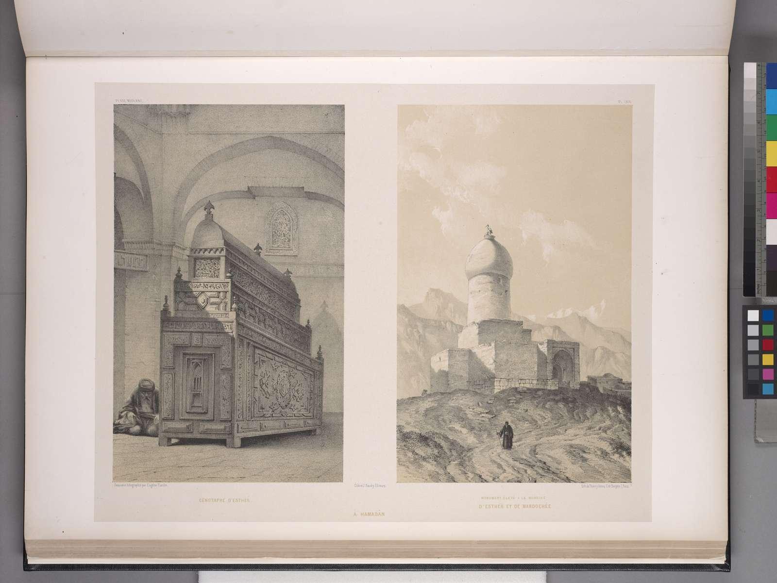 Cénotaphe d'Esther [et] Monument élevé a la mémoire d'Ester et de Mardochée à Hamadân.