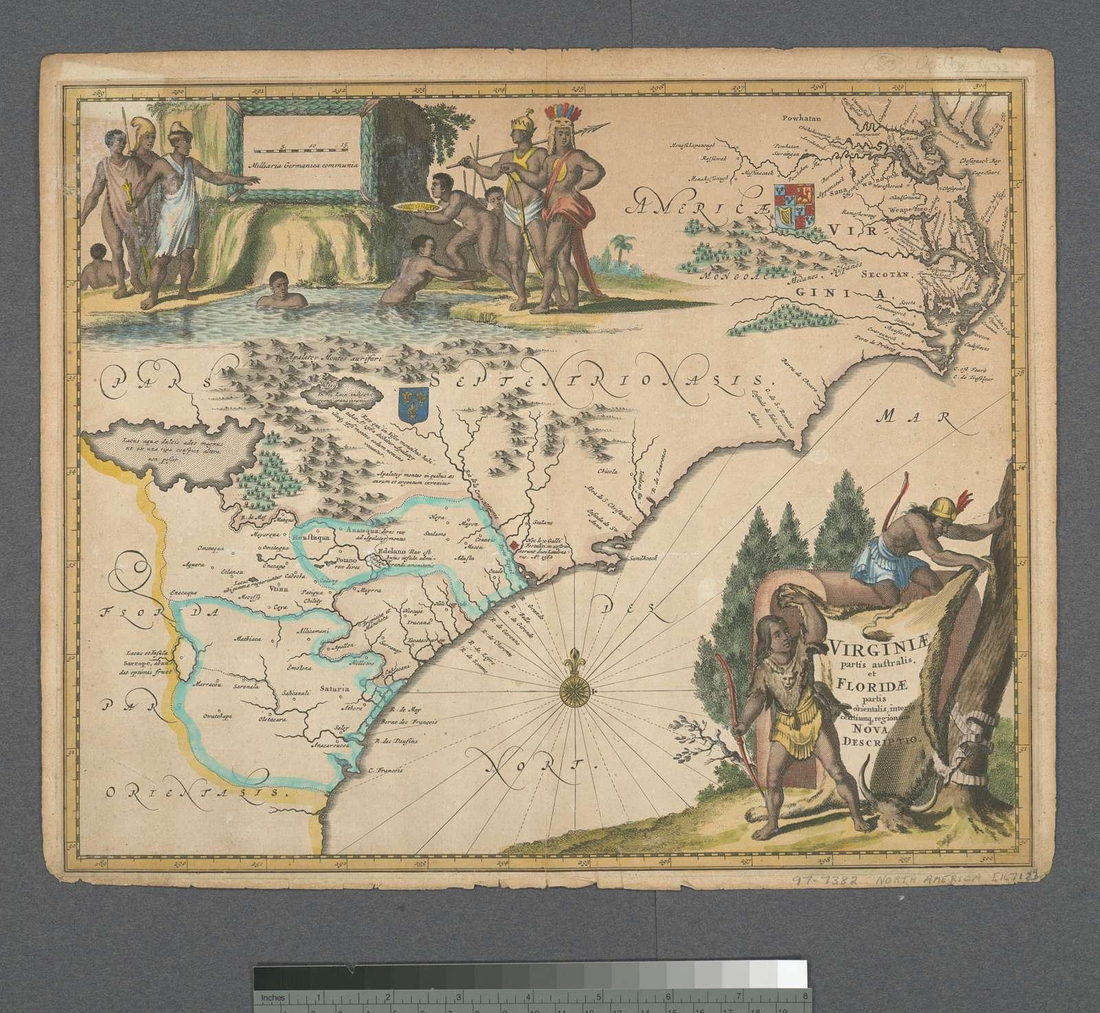 Virginiae partis australis, et Floridae partis orientalis, interjacentiumq[ue] regionum, nova descriptio.