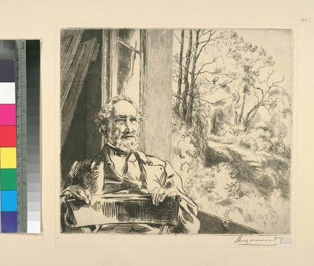 Meyer-Heine, chef émailleur de la manufacture de Sèvres, gravé d'après nature.