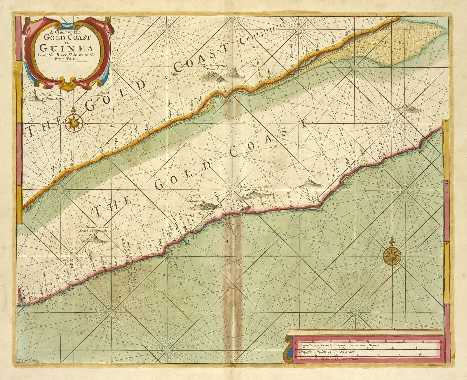 A chart of the GOLD COAST in GUINEA from the River St. John to the River Volta