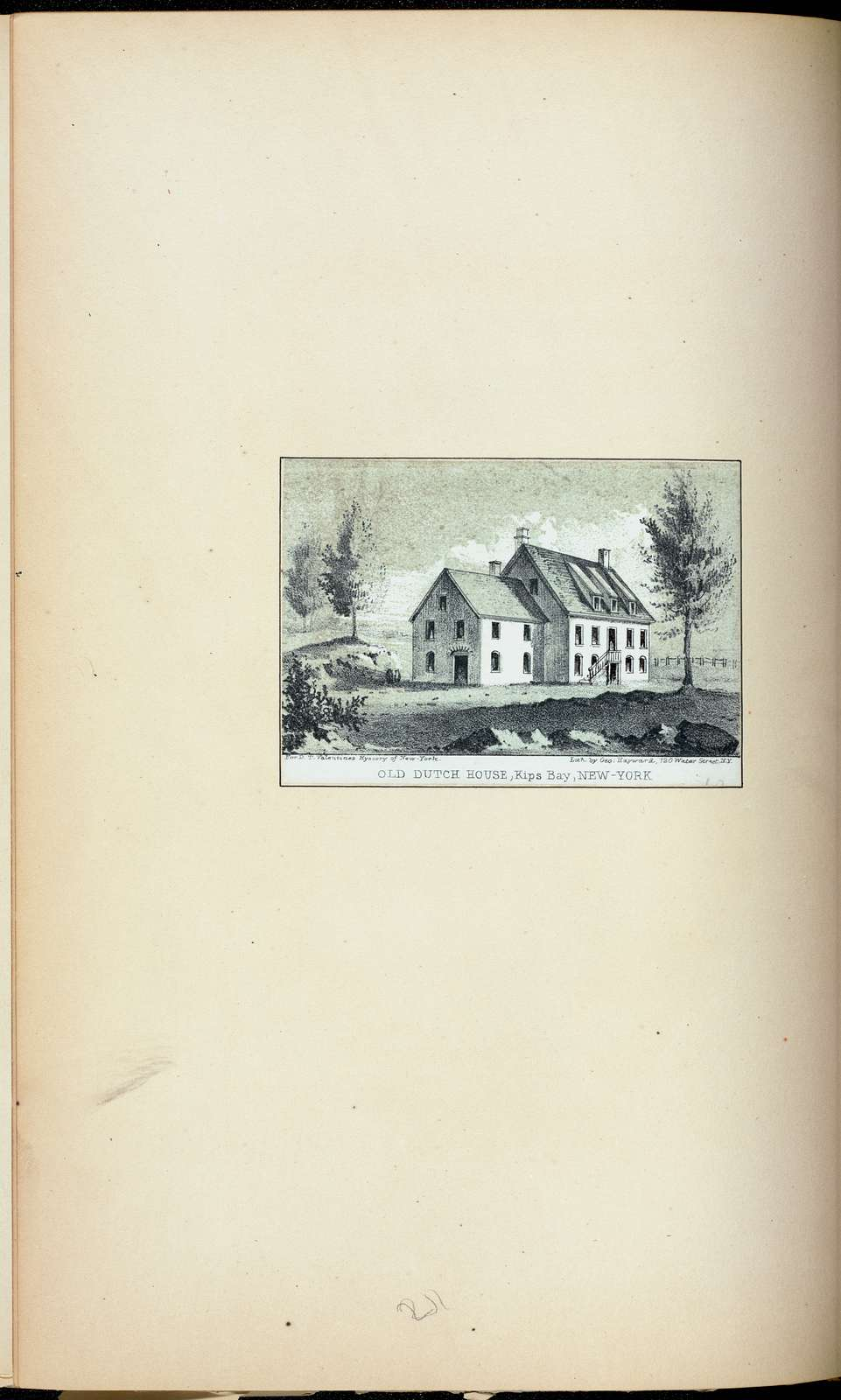 Old Dutch house, Kips Bay, New-York.