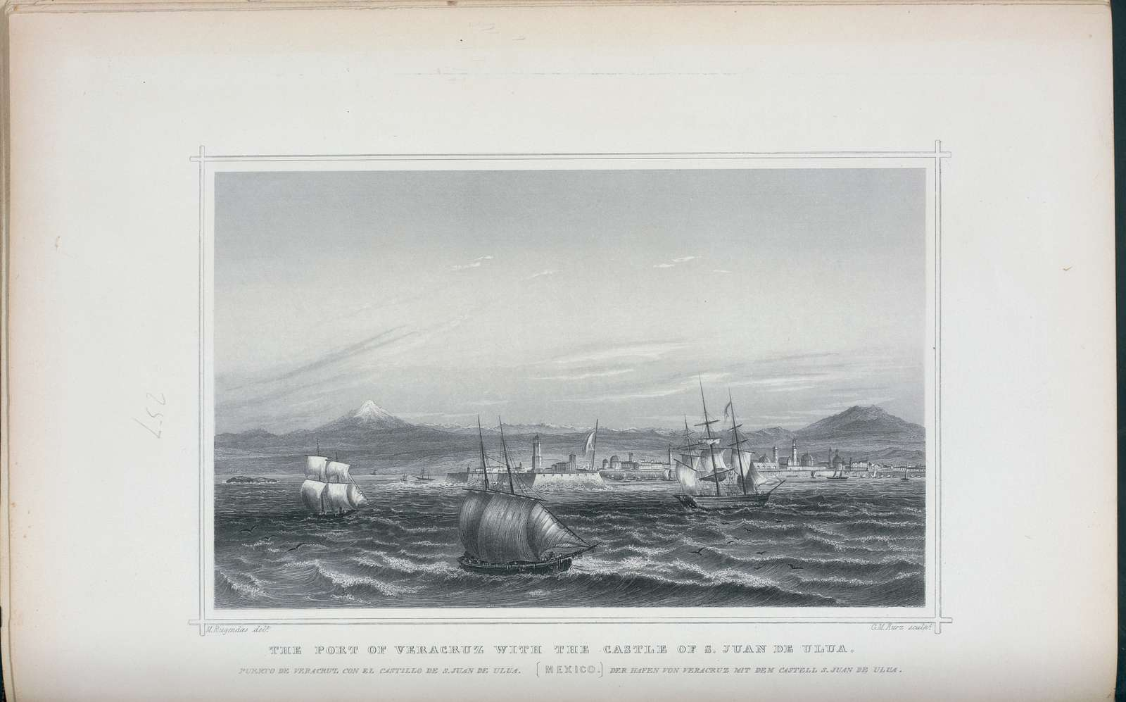 The port of Veracruz with the castle of S. Juan de Ulua, Mexico.