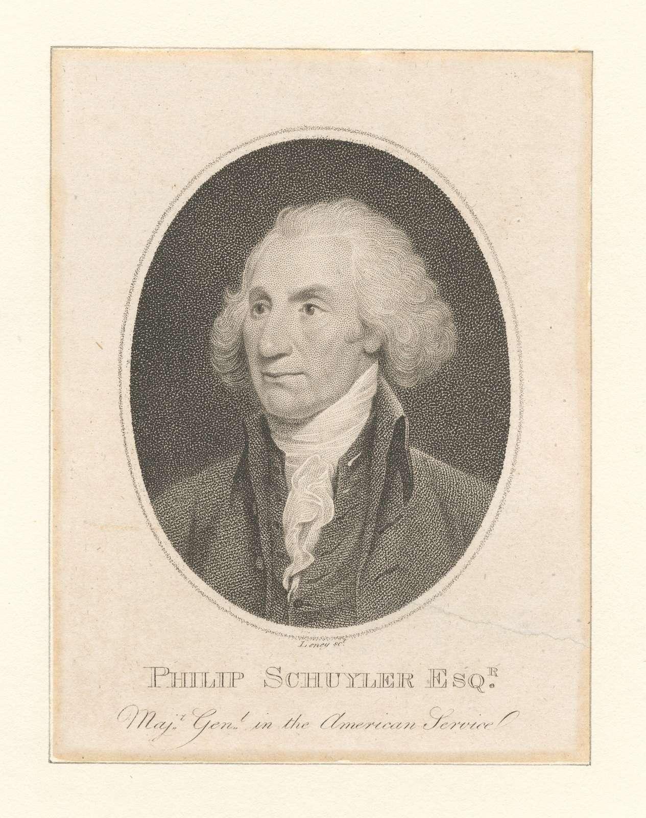 Philip Schuyler Esqr. Majr. Genl. in the American Service