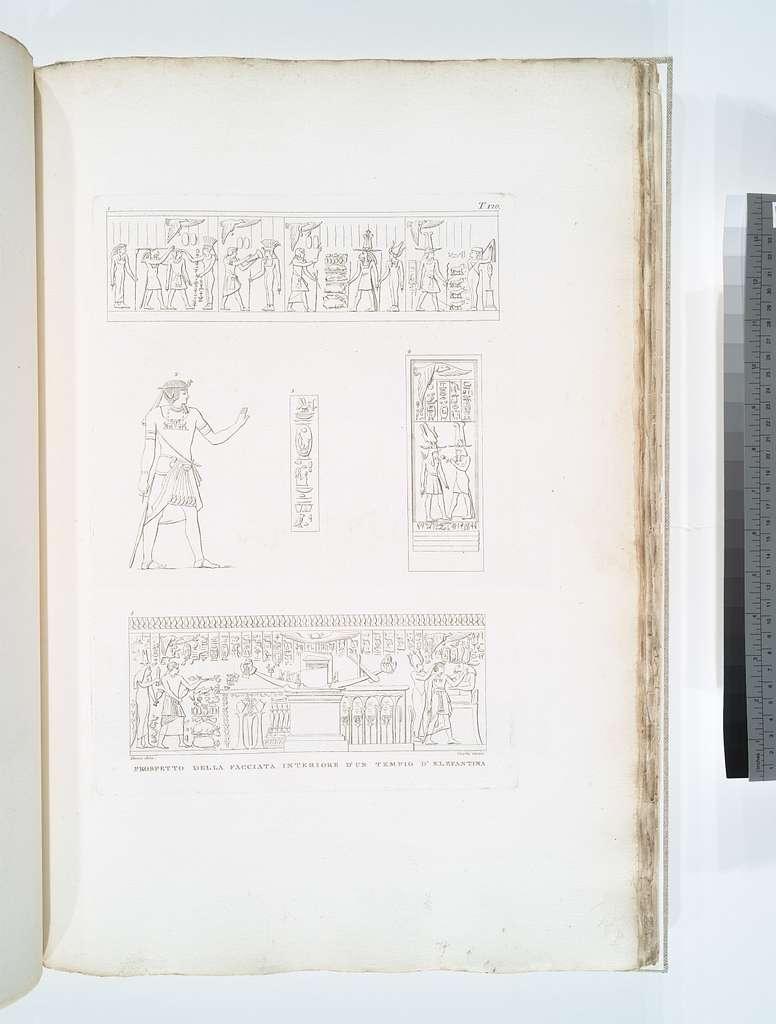Prospetto della facciata interiore d'un tempio d'Elefantina.