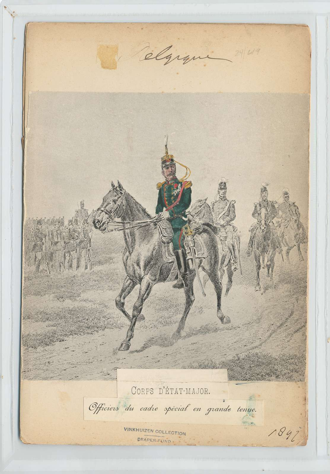 Corps d'État-Major. Officiers  du cadre spécial en grande tenue. 1897