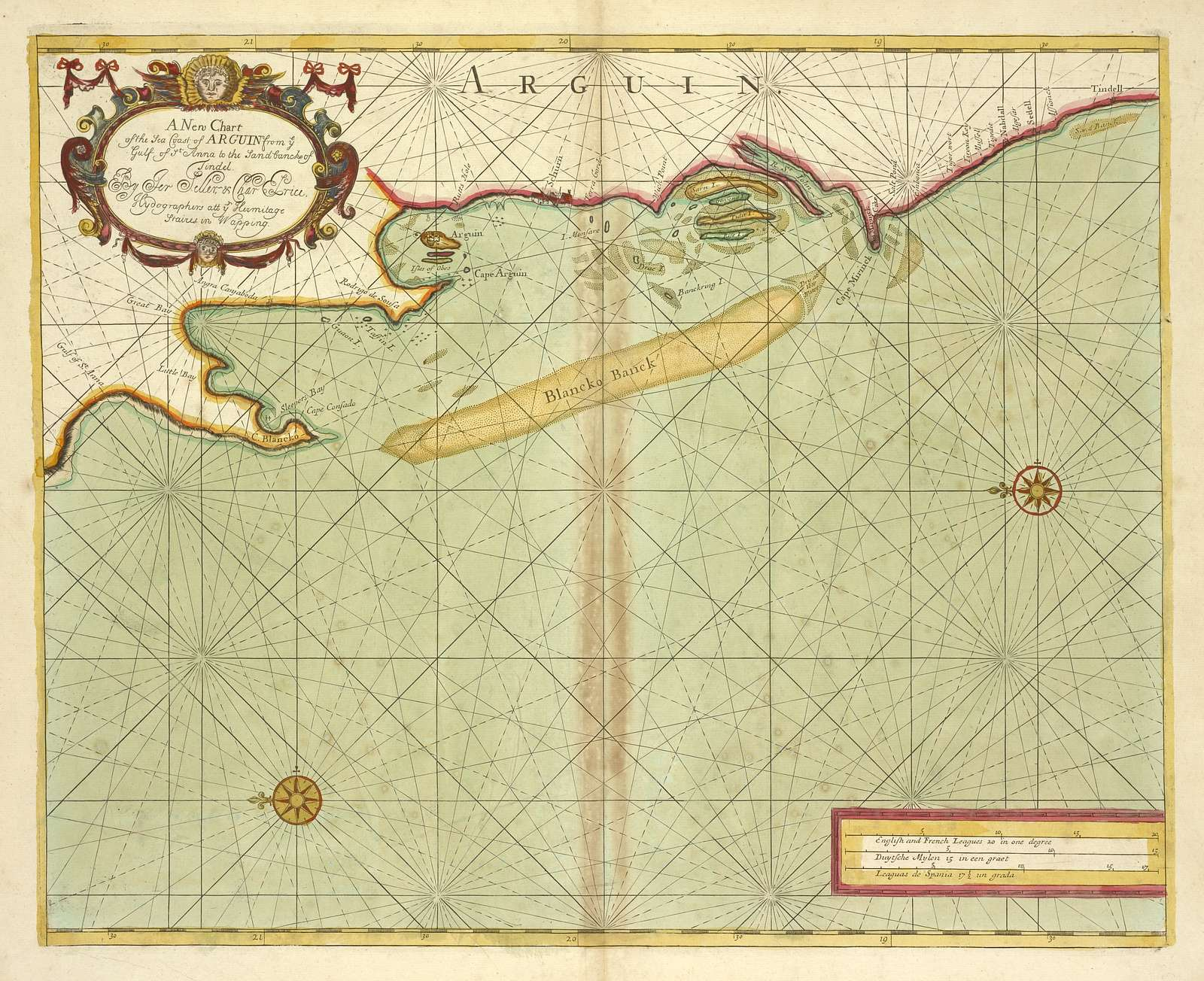A new chart of the sea coast of ARGUIN from Gulf of Anna to the Land bank of Tindel