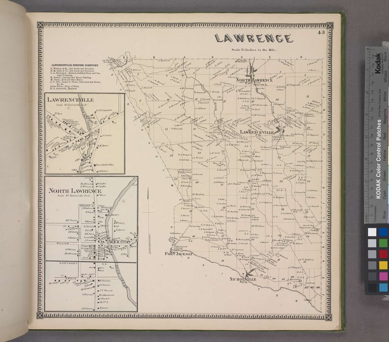 Lawrenceville Business Directory. ; Lawrenceville [Village]; North Lawrence [Village]; Lawrence [Township]
