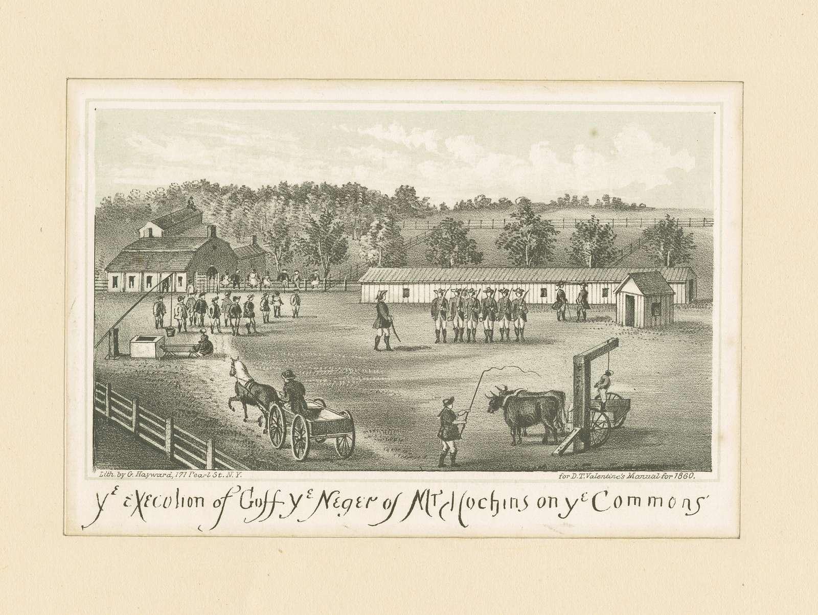 Ye execution of Goff ye neger of Mr. Hochins on ye common