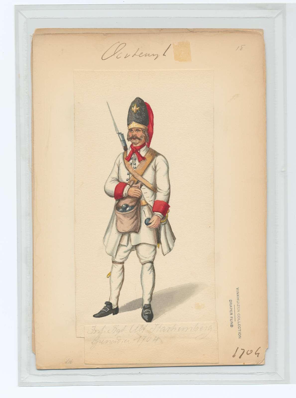 Inf. Rgt. Alt Starhemberg Grenadier 1704