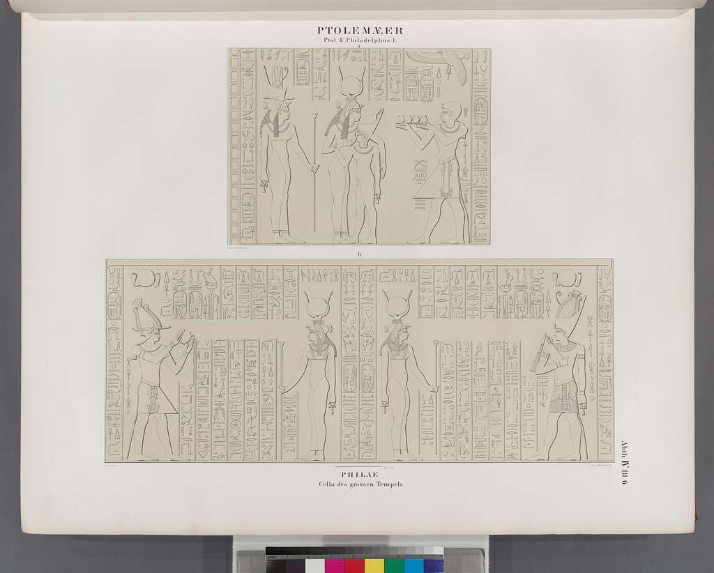Ptolemaeer. Ptol. II. Philadelphus I. Philae. Cella des grossen Tempels.