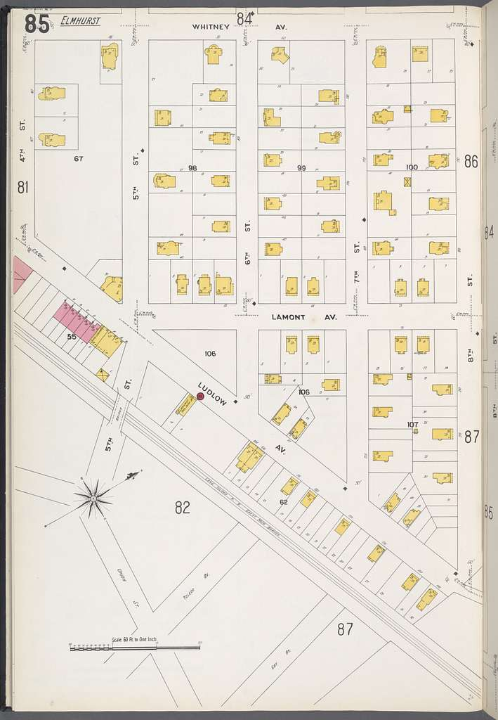 Queens V. 3, Plate No. 85 [Map bounded by Whitney Ave., 8th St., Ludlow Ave., 4th St.]
