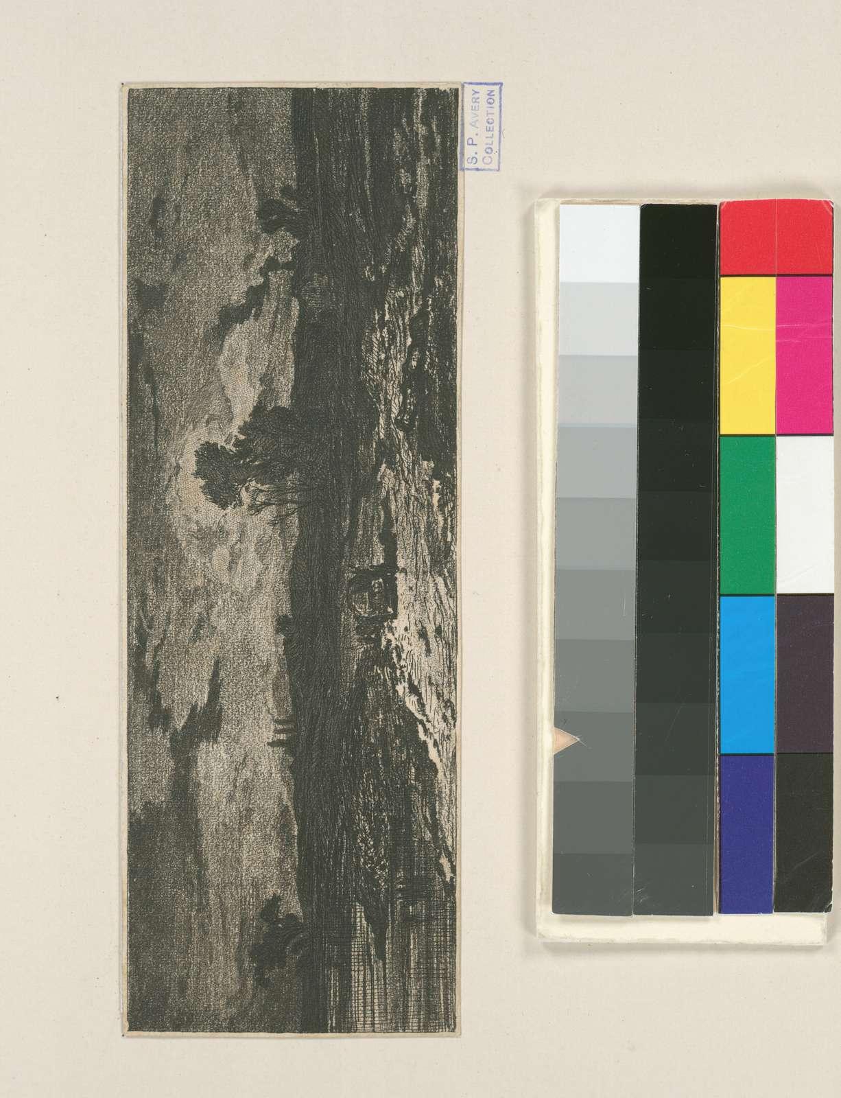 Paysage : crépuscule, d'après Louis Marvy.