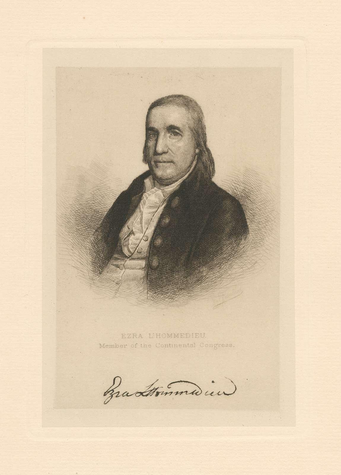 Ezra L'Hommedieu. Member of the Continental Congress.