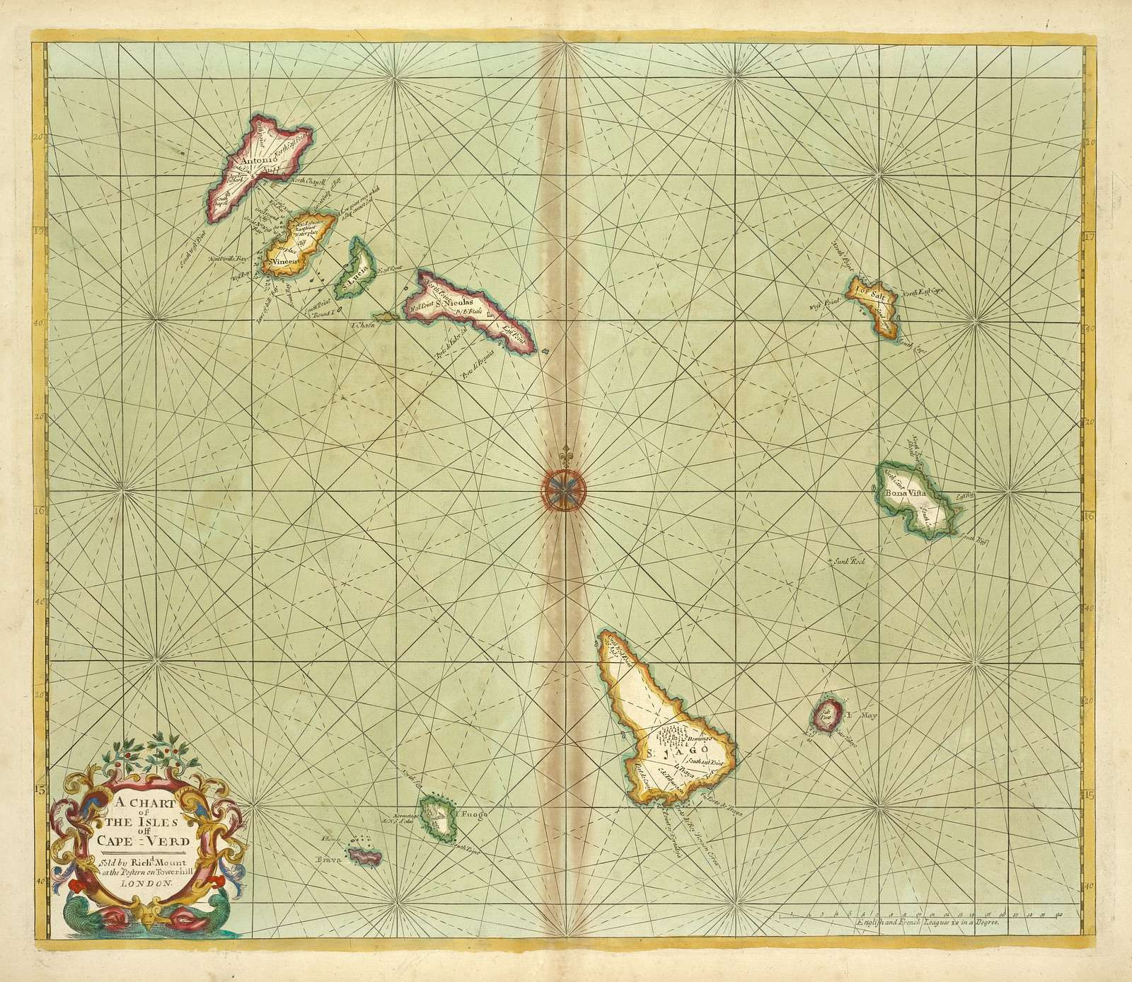 A chart of THE ISLES off CAPE-VERD