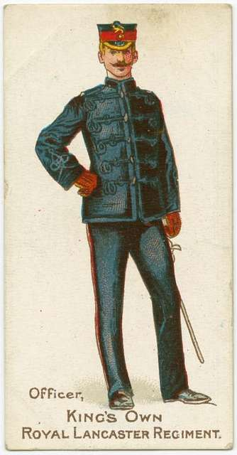 Officer. King's Own Royal Lancaster Regiment.